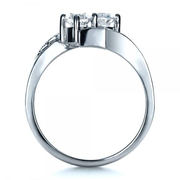 Custom Diamond Ring - Finger Through View