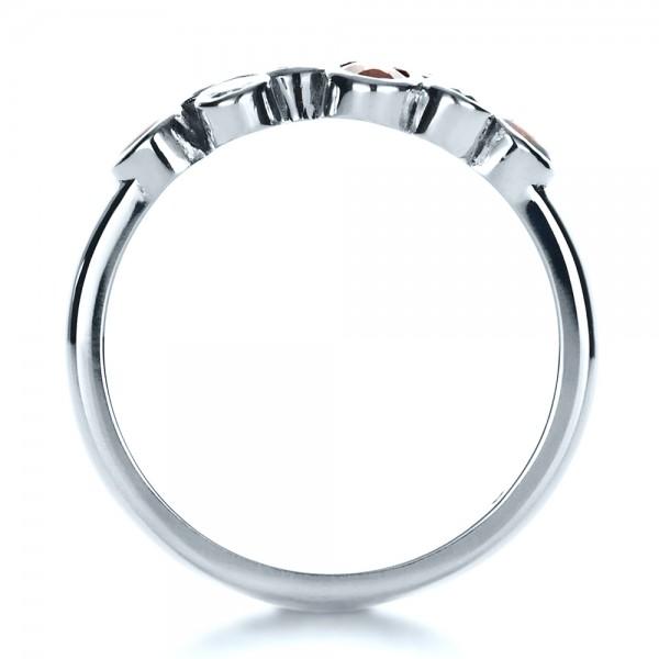 Custom Diamond and Opal Ring - Finger Through View