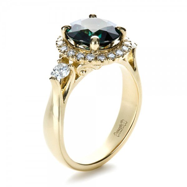 Custom Emerald and Diamond Fashion Ring