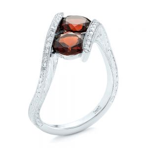 Custom Garnet and Diamond Fashion Ring