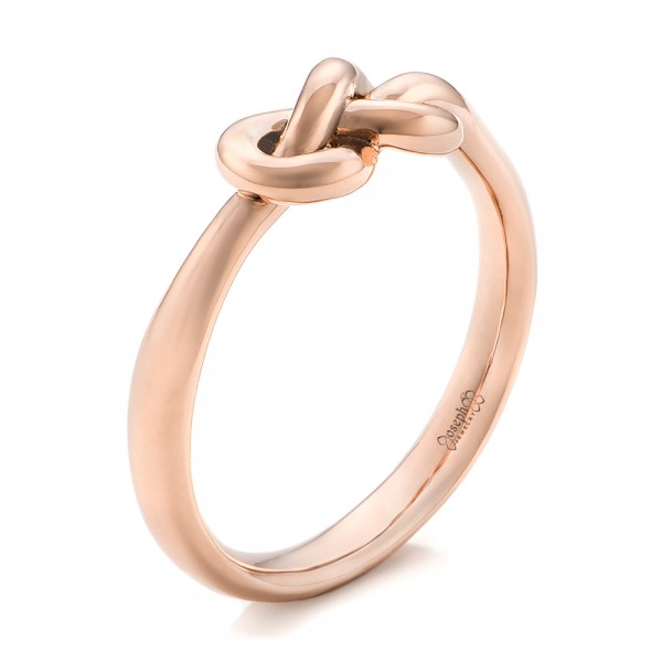 14K Gold Custom Infinity Knot Fashion Ring - Three-Quarter View -  102294