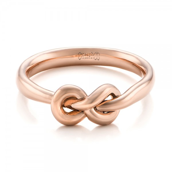 14K Gold Custom Infinity Knot Fashion Ring - Flat View -  102294