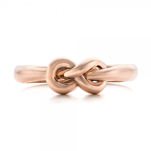14K Gold Custom Infinity Knot Fashion Ring - Top View -  102294