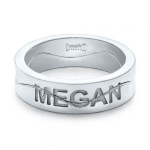 Custom Interlocking Name Band