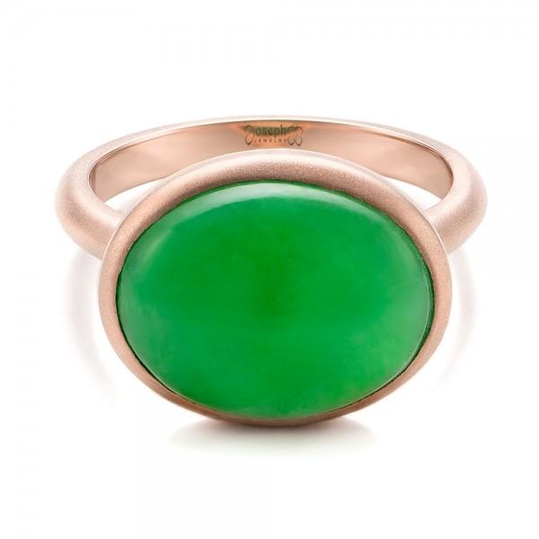 Custom Jade Cabochon Fashion Ring - Laying View
