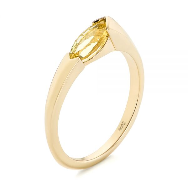 Custom Marquise Citrine Fashion Ring - Image