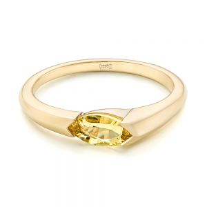Custom Marquise Citrine Fashion Ring