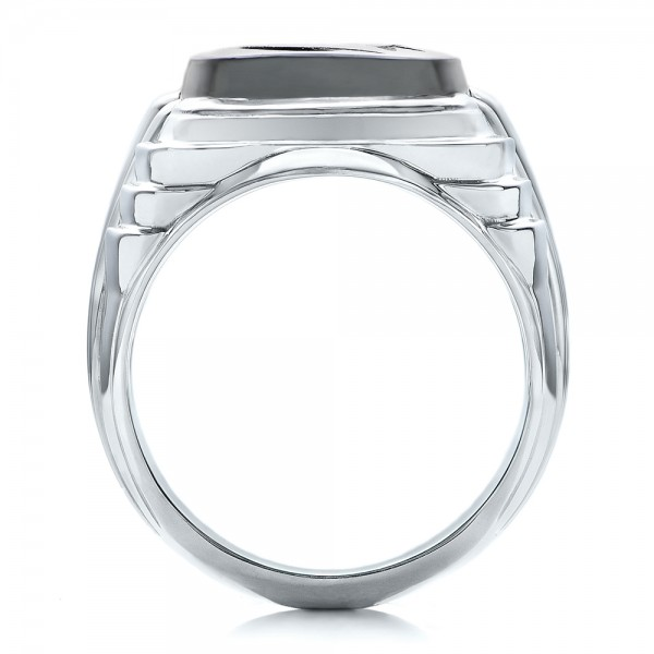 Custom Men's Signet Ring - Front View -  101267 - Thumbnail