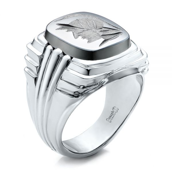 Custom Men's Signet Ring - Image