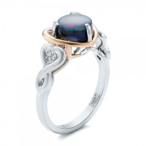 Custom Opal and Diamond Fashion Ring