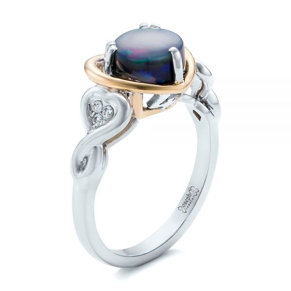 Custom Opal and Diamond Fashion Ring - Image