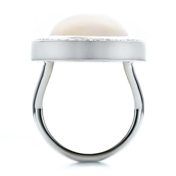 Custom Opal and Diamond Ring - Finger Through View