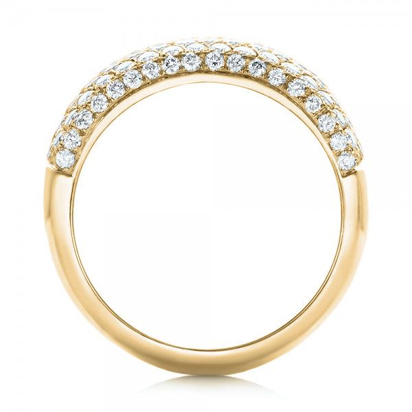 14k Yellow Gold 14k Yellow Gold Custom Pave Diamond Fashion Ring - Front View -