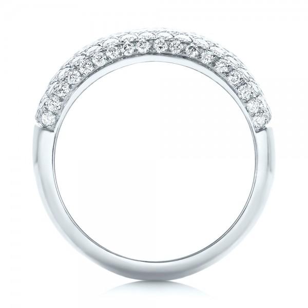 Custom Pave Diamond Fashion Ring - Finger Through View