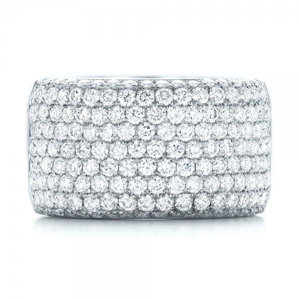 Custom Pave Diamond Fashion Ring - Top View
