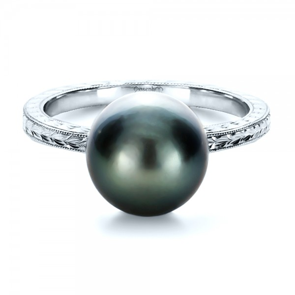 Custom Pearl Ring - Laying View