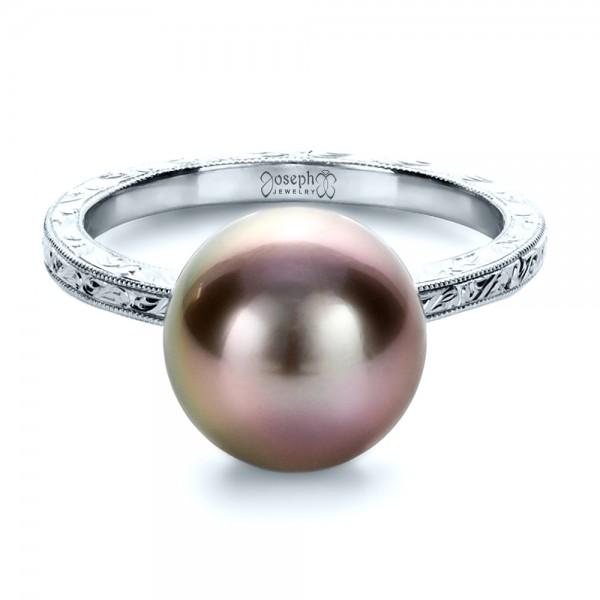 Custom Pearl Ring - Laying View