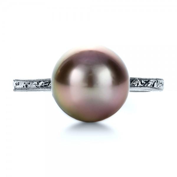 Custom Pearl Ring - Top View