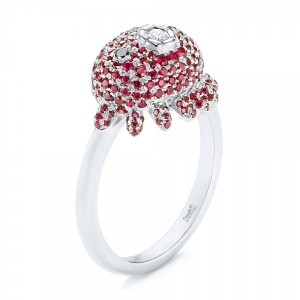 Custom Ruby and Diamond Fashion Ring