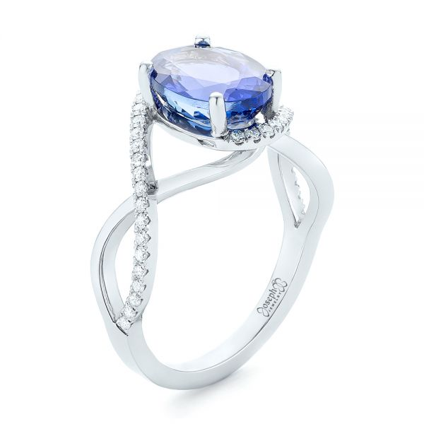 Custom Tanzanite and Diamond Fashion Ring - Image