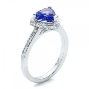 Custom Tanzanite and Diamond Ring
