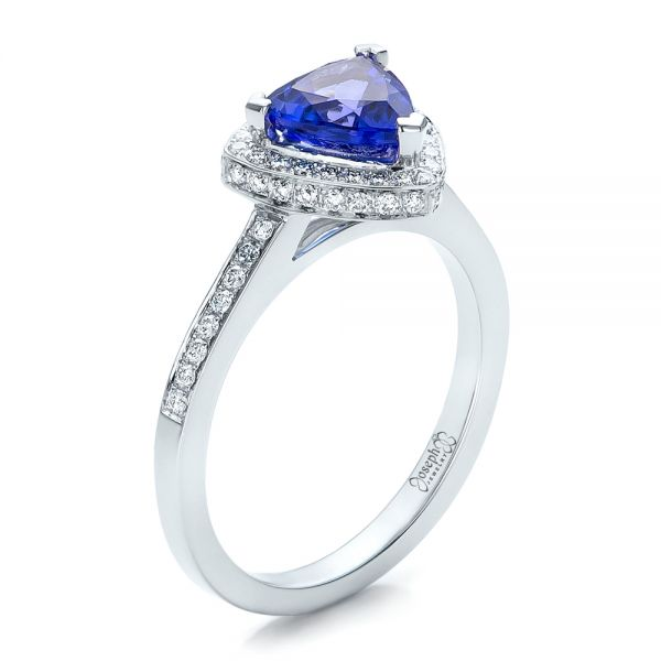 Custom Tanzanite and Diamond Ring - Image