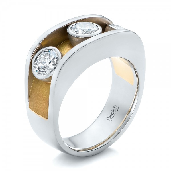 Custom Two-Tone Diamond Fashion Ring