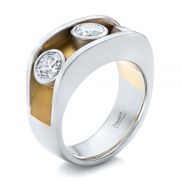 Custom Two-Tone Diamond Fashion Ring - Image
