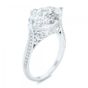 Custom White Sapphire and Diamond Fashion Ring