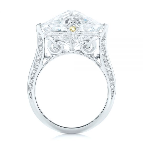 Custom White Sapphire and Diamond Fashion Ring - Front View -  103591 - Thumbnail