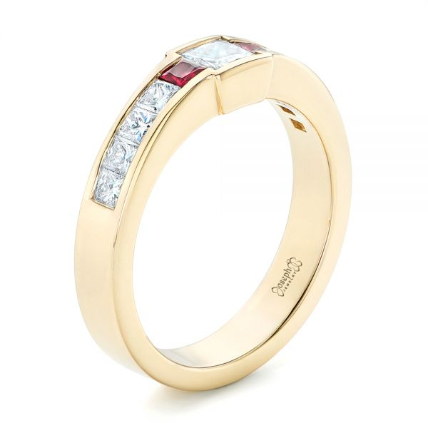 Custom Yellow Gold Ruby and Diamond Fashion Ring - Image