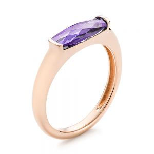 East-West Amethyst Fashion Ring - Image