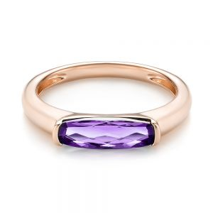 East-West Amethyst Fashion Ring