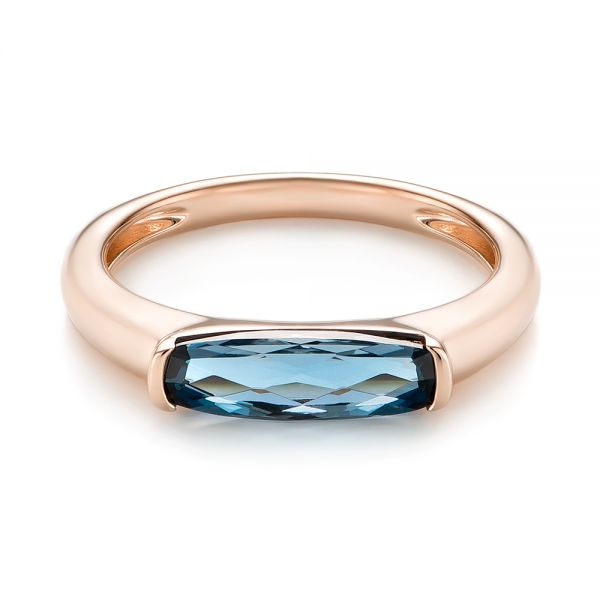 East-West London Blue Topaz Fashion Ring - Flat View -  103762 - Thumbnail