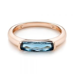East-West London Blue Topaz Fashion Ring