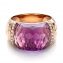 Fancy Cut Amethyst And Diamond Ring - Flat View -  100457 - Thumbnail
