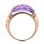 Fancy Cut Amethyst And Diamond Ring - Front View -  100457 - Thumbnail