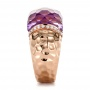 Fancy Cut Amethyst And Diamond Ring - Side View -  100457 - Thumbnail
