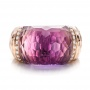 Fancy Cut Amethyst And Diamond Ring - Top View -  100457 - Thumbnail