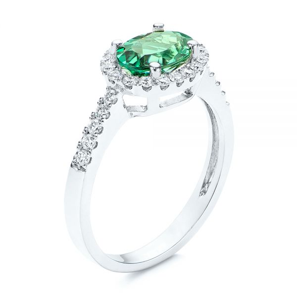 Green Tourmaline and Diamond Ring - Image
