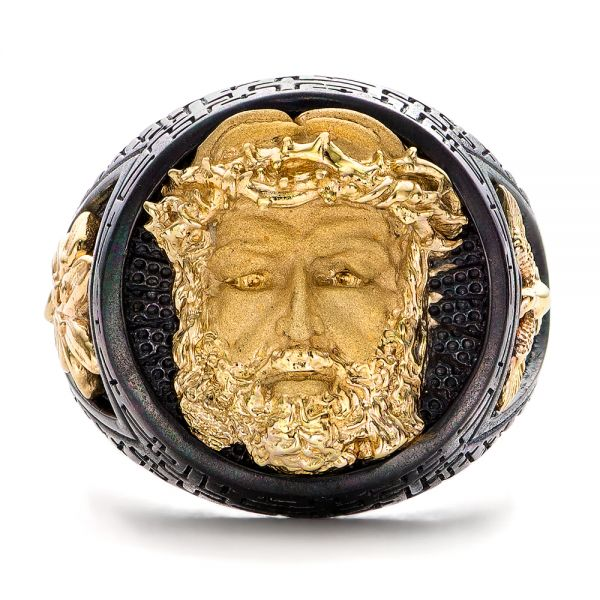 Jesus Ring - Capitan Collection - Flat View -  101972