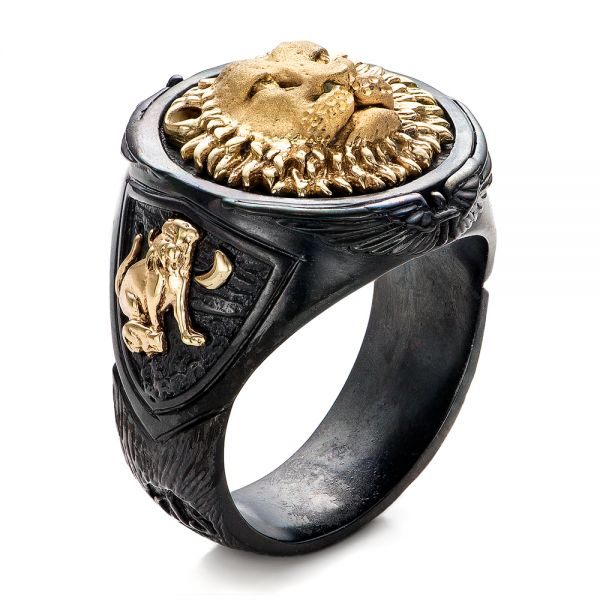 Lion Ring - Capitan Collection - Three-Quarter View -