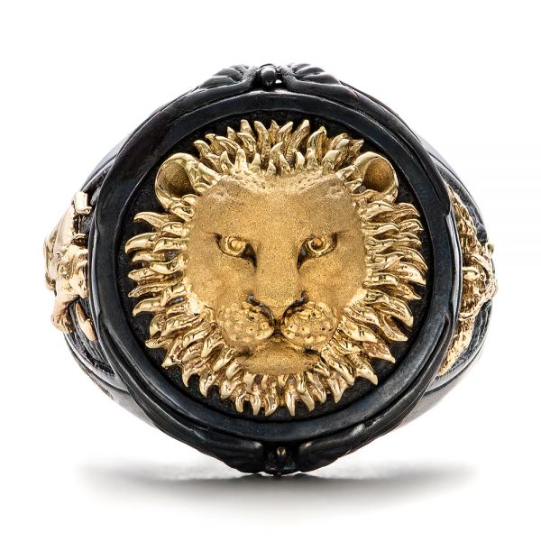 Lion Ring - Capitan Collection - Flat View -