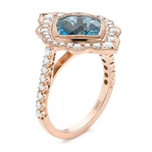 London Blue Topaz and Diamond Ring - Image