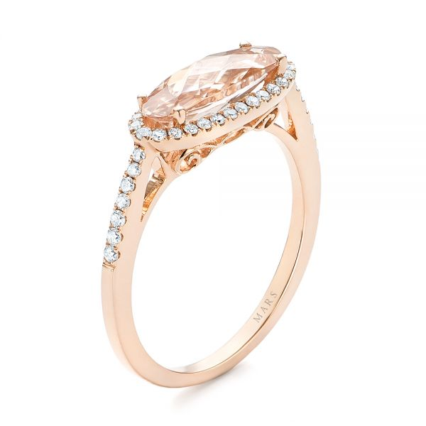 Morganite and Diamond Fashion Ring - Image