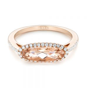 Morganite and Diamond Fashion Ring
