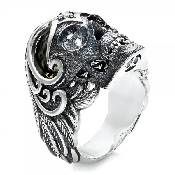 Mortality Skull Ring - Capitan Collection - 3/4 View