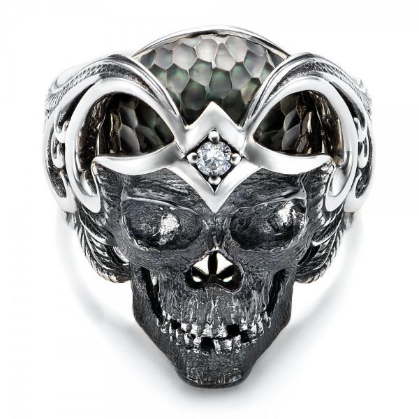 Mortality Skull Ring - Capitan Collection - Laying View