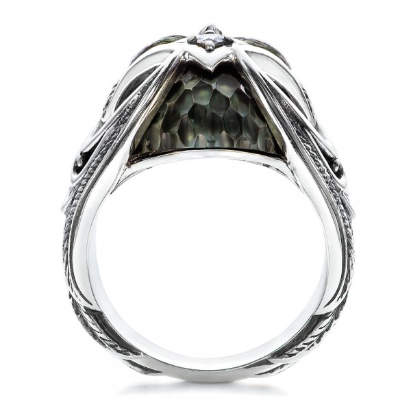 Mortality Skull Ring - Capitan Collection - Finger Through View