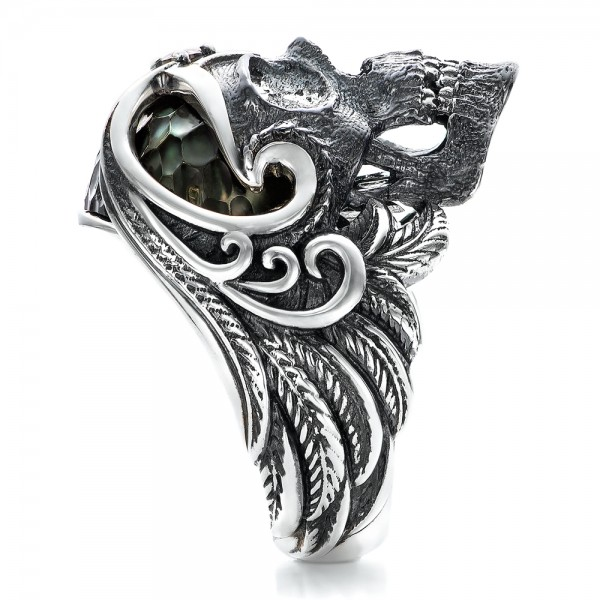 Mortality Skull Ring - Capitan Collection - Side View